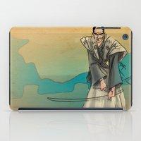 samurai iPad Cases featuring Samurai by David Finley