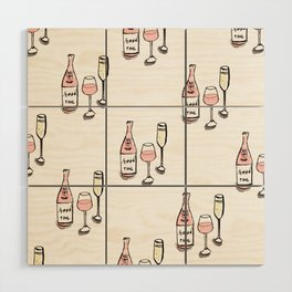PATTERN II Rosé & Sparkling Wine Wood Wall Art
