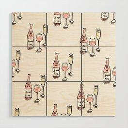 PATTERN II Rosé & Sparkling Wine Wood Wall Art