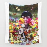 butterflies Wall Tapestries featuring Butterflies by Ben Giles