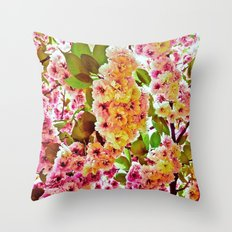 Polychrome Beauty In Full Bloom Throw Pillow