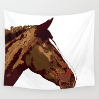 horse Wall Tapestries featuring horse by Temi Alli