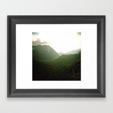 rainier view . holga Framed Art Print
