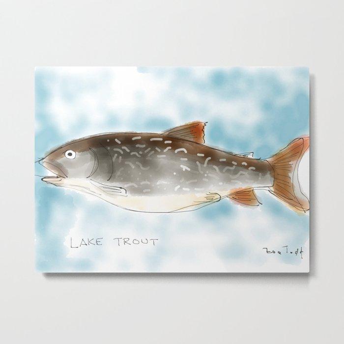 lake trout Metal Print