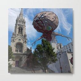 Monstre sanglant au dessus de Notre-Dame de la Croix Metal Print