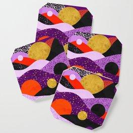 Terrazzo galaxy purple orange gold Coaster