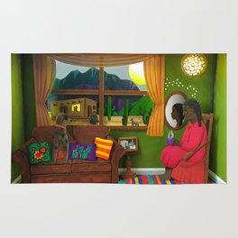 Abuela's Childhood Memories Paper Art Rug