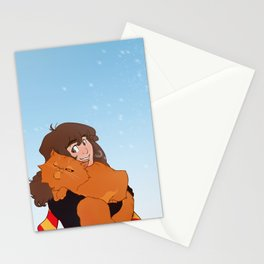 Hermione and Crookshanks Stationery Cards