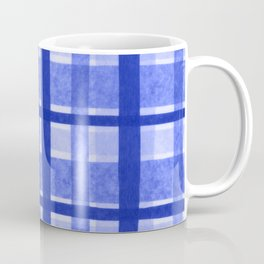 Tissue Paper Plaid - Blue Coffee Mug