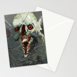Creature strange weird horror funny illustration painting Stationery Cards