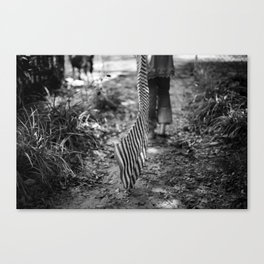 Running into absence Canvas Print
