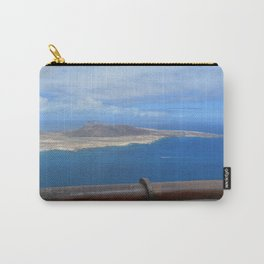 High view over the ocean and a island Carry-All Pouch