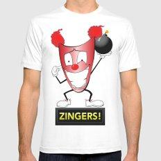 Zany Zinger T-Shirt Alternate Mens Fitted Tee White MEDIUM