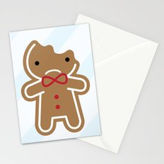 Sad Bitten Cookie Cute Gingerbread Man Stationery Cards