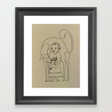 Saluki Lover Framed Art Print