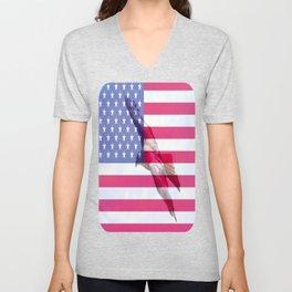 United States Freedom Flag Unisex V-Neck