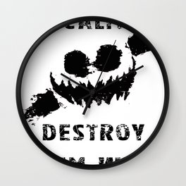 Keep Calm and Destroy Them With Lazers Wall Clock