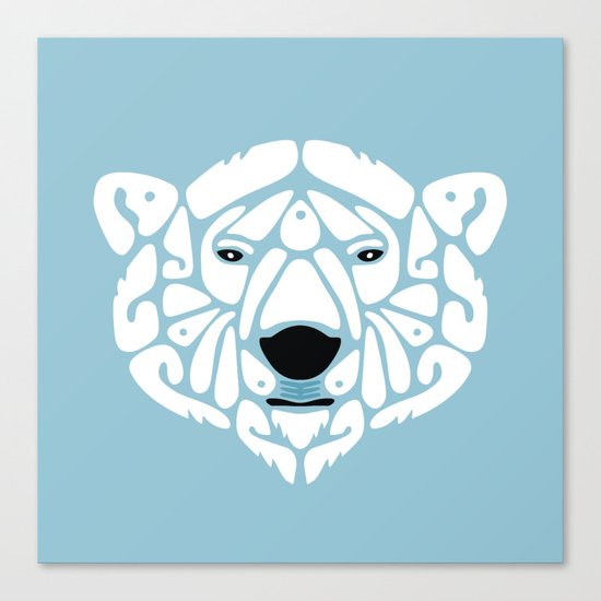 An Béar Bán (The White Bear) Canvas Print