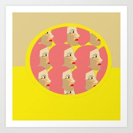 Pink ladies pop art print Art Print
