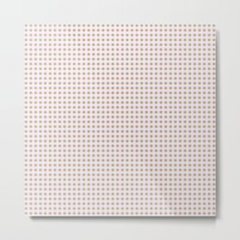 Happy and Calm Pink and Green Dots Metal Print