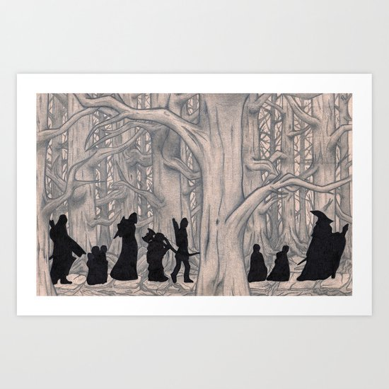 On the way (The Fellowship of the Ring, LOTR) Art Print