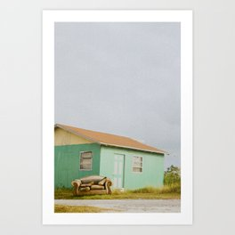 Nobody's Home. Art Print
