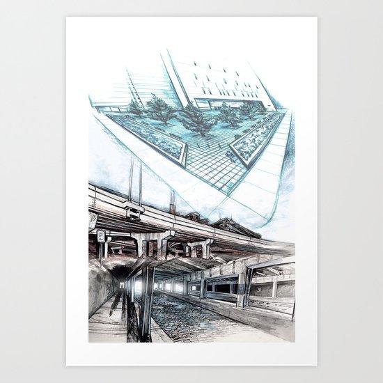 Urban passages: Chicago  Art Print