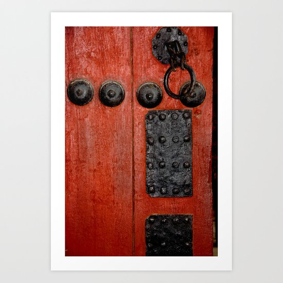 Red Door at the Korean Palace Art Print