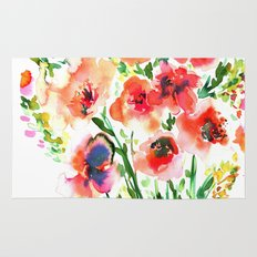 Bouquet Red Rug