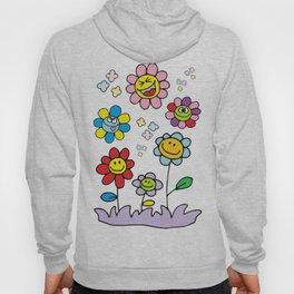 Smiley Flowers Hoody