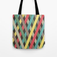 striped Tote Bags featuring Striped by General Design Studio