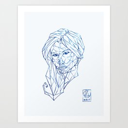 Diamant Bleu Art Print