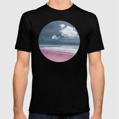 LONELY BEACH Mens Fitted Tee MEDIUM Black