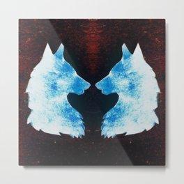 Twin wolf Metal Print