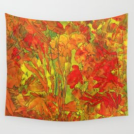 Summer doodle Wall Tapestry