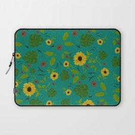 Sunflower & Monstera Leaf Laptop Sleeve