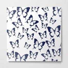 Butterfly Pattern Metal Print