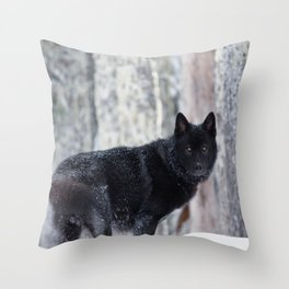 Prince of the Winterwoods Throw Pillow