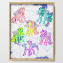 g1 my little pony Flutter ponies backcard inspired Serving Tray
