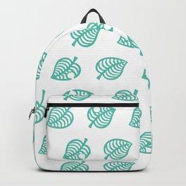 animal crossing leaf pattern Backpack