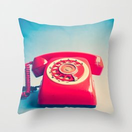Dr. Strangelove (Vintage Red Telephone) Throw Pillow