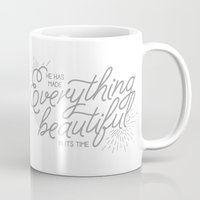 pocketfuel Mugs featuring EVERYTHING BEAUTIFUL by Pocket Fuel
