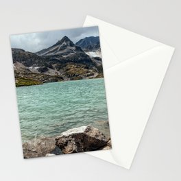 Weissee lake in Alps Stationery Cards