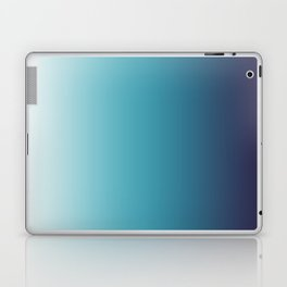 Blue White Gradient Laptop & iPad Skin
