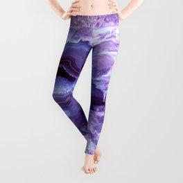 Purple Lavender Quartz Crystal Leggings