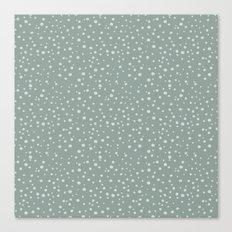 PolkaDots-Mint on Juniper Canvas Print