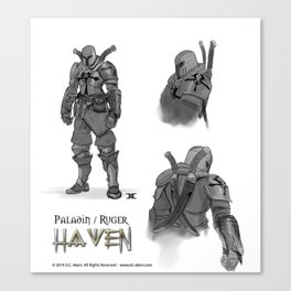 Ruger - Paladin Concept Art -Haven Book Series Canvas Print
