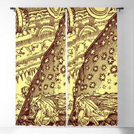 "Flammarion Woodcut (1888) ""Cosmic design"" (2) Blackout Curtain"