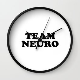 TEAM NEURO Wall Clock