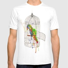 Cockatoo MEDIUM White Mens Fitted Tee